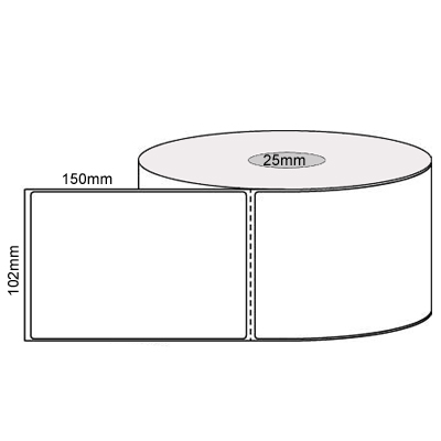 102mm X 150mm  Direct Thermal Labels Per Roll