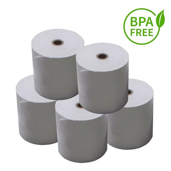 View 80x80 BPA Free Thermal Paper Rolls - 24 Rolls