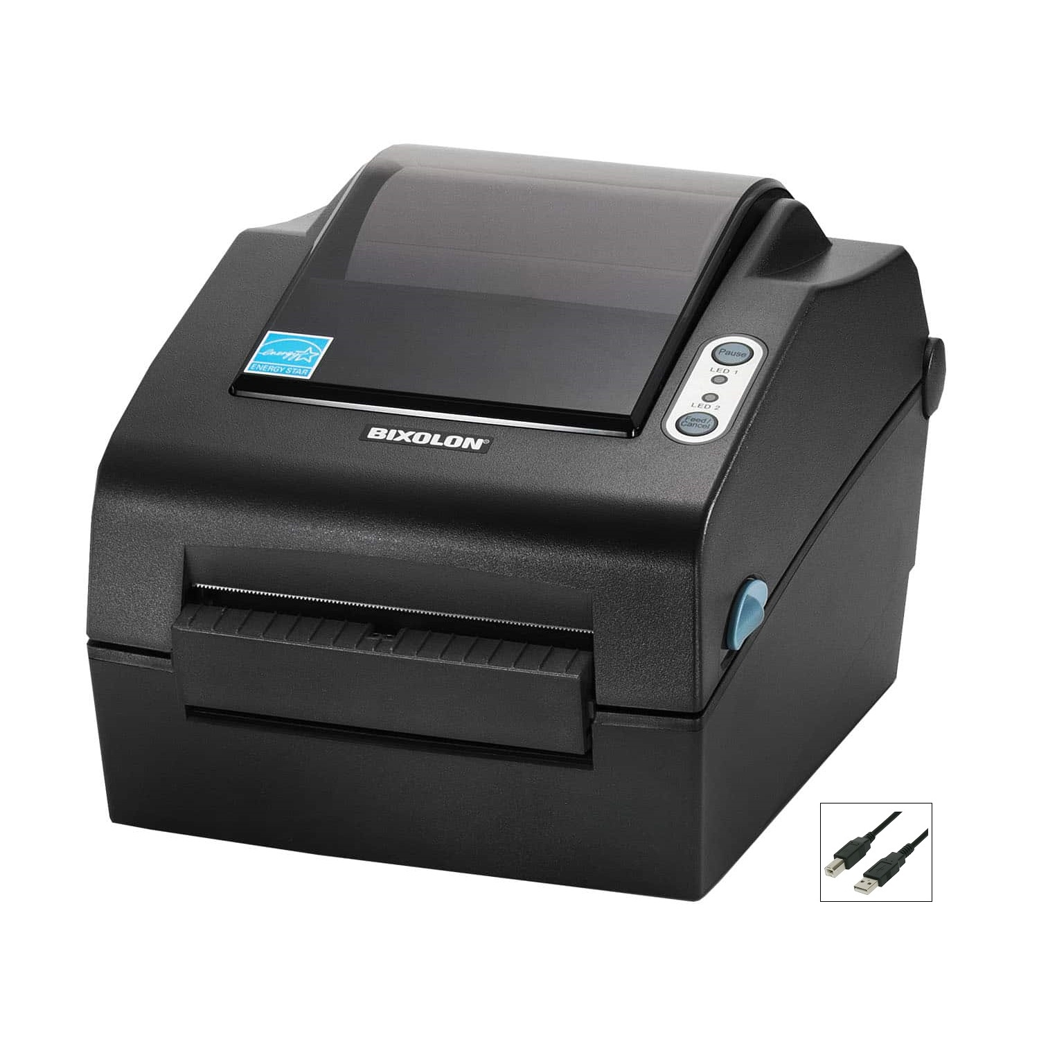 "View Bixolon SLP-DX420 4"" Desktop Direct Thermal Label Printer with USB Interface + Peeler"