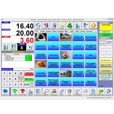 Control Professional Touch Pos Software