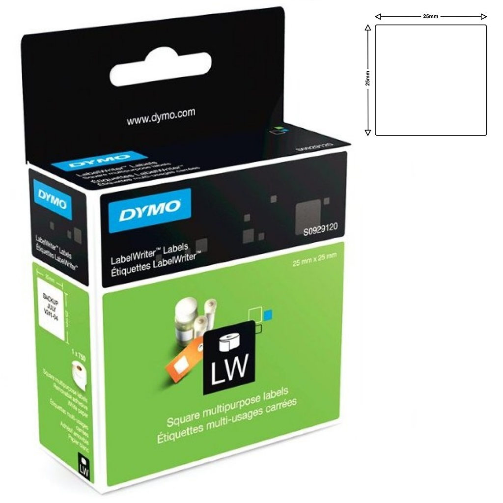 Dymo S0929120 25x25 Multi Purpose labels