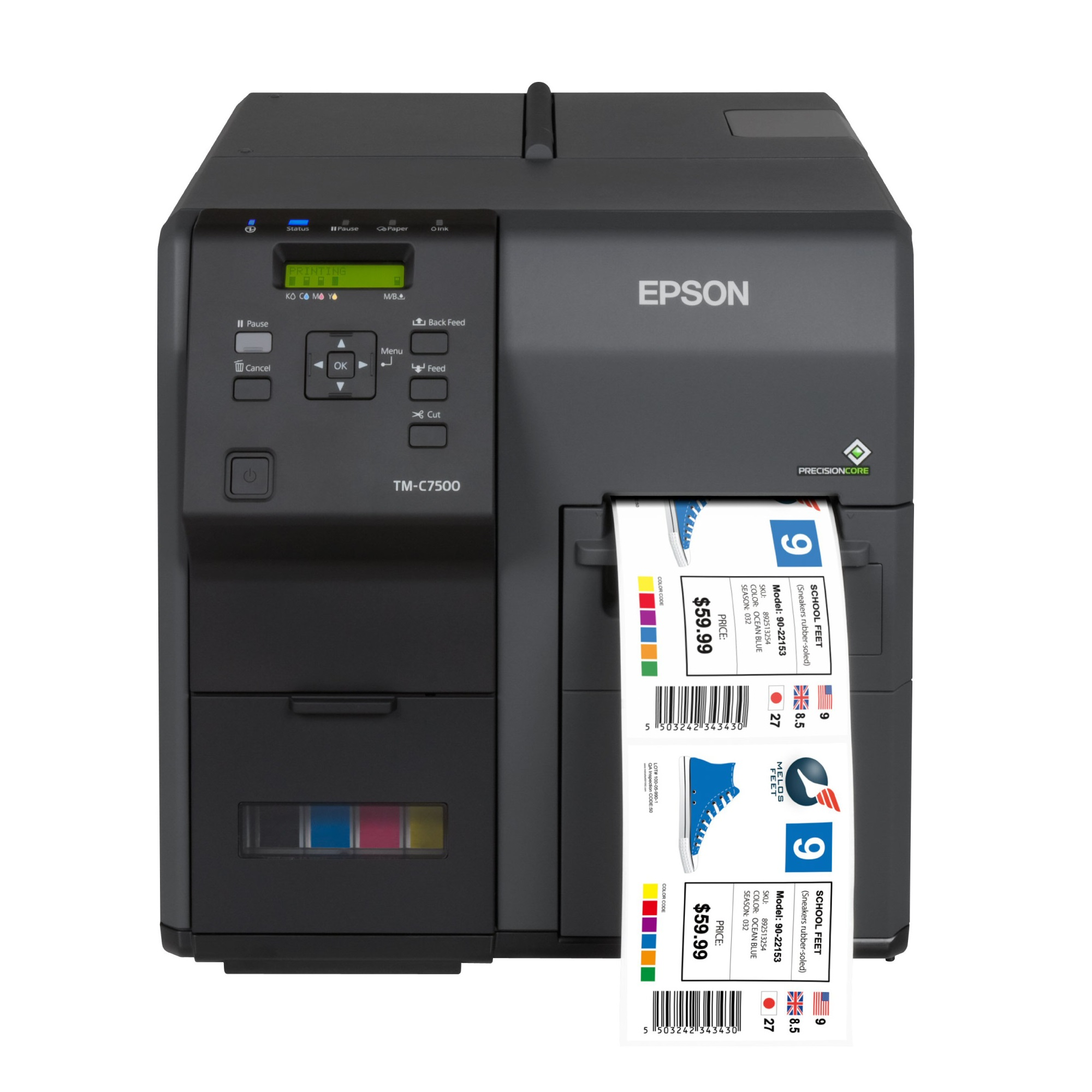 View Epson ColorWorks TM-C7500G Inkjet Colour Label Printer with Take-Up