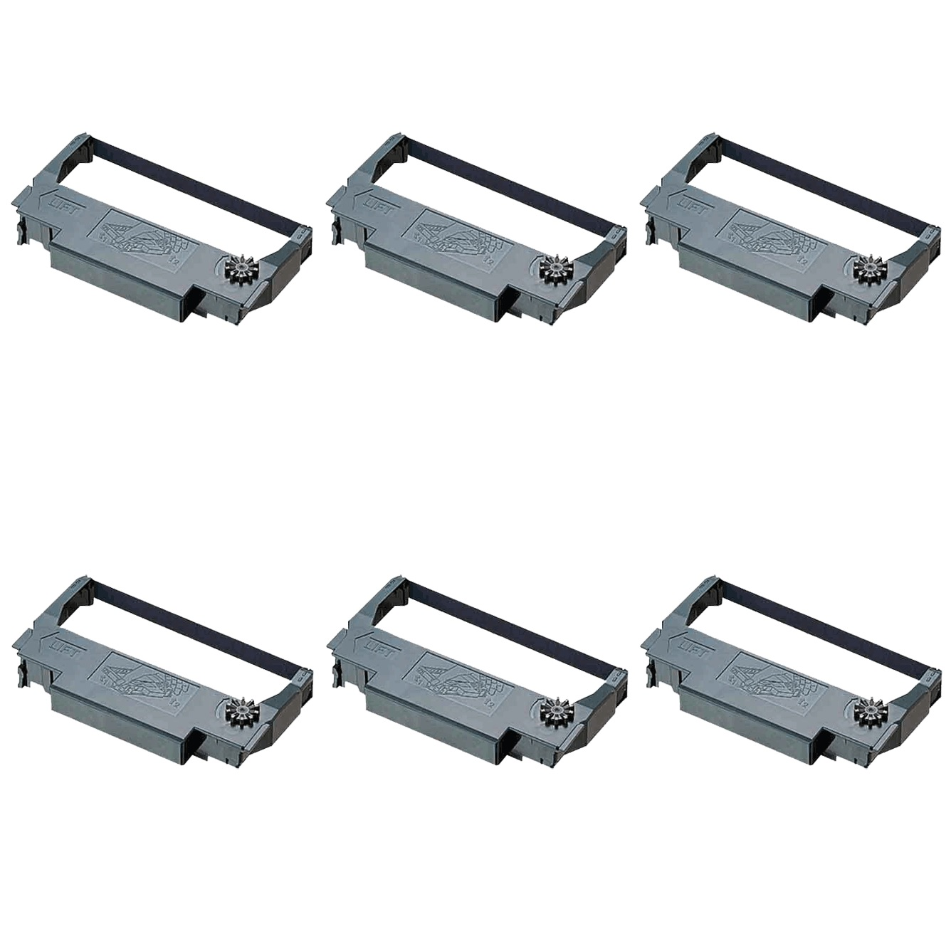 View Epson ERC38 Ink Ribbon Black - 6 Pack