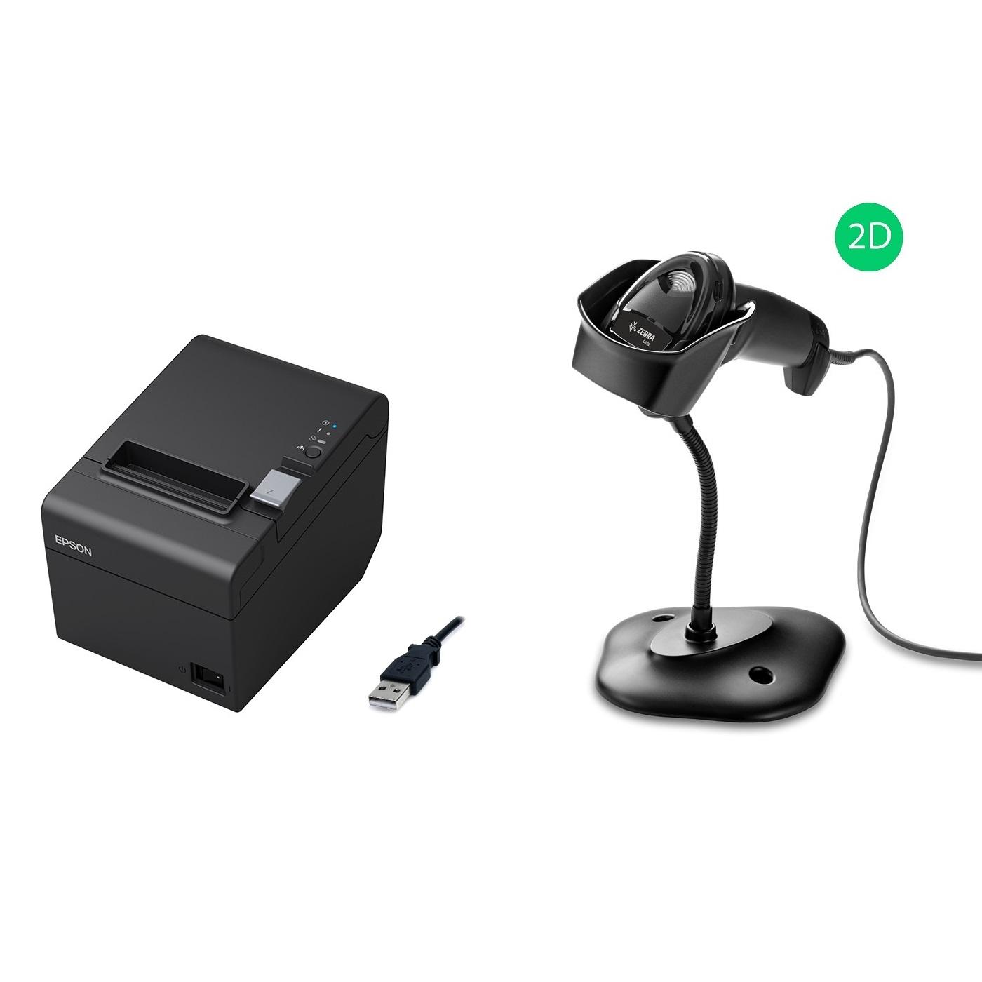 View Epson TM-T82III USB + Zebra DS2208 USB Scanner Bundle