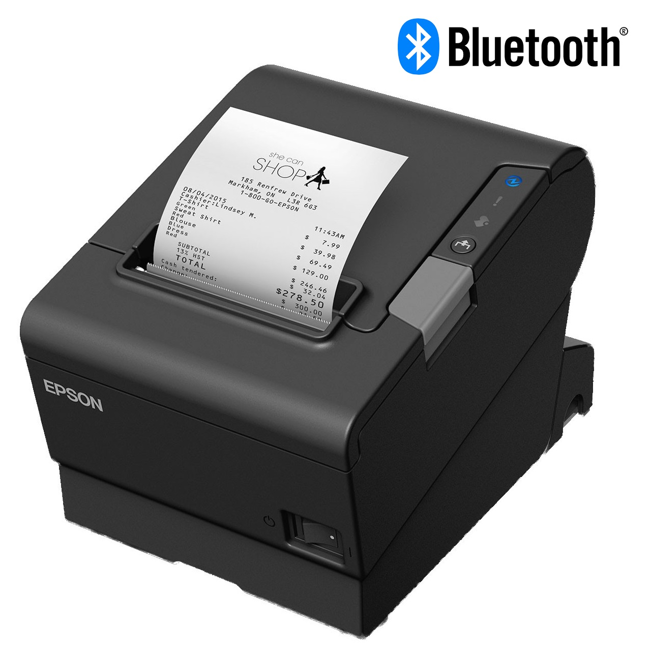 View Epson TM-T88VI Bluetooth Receipt Printer