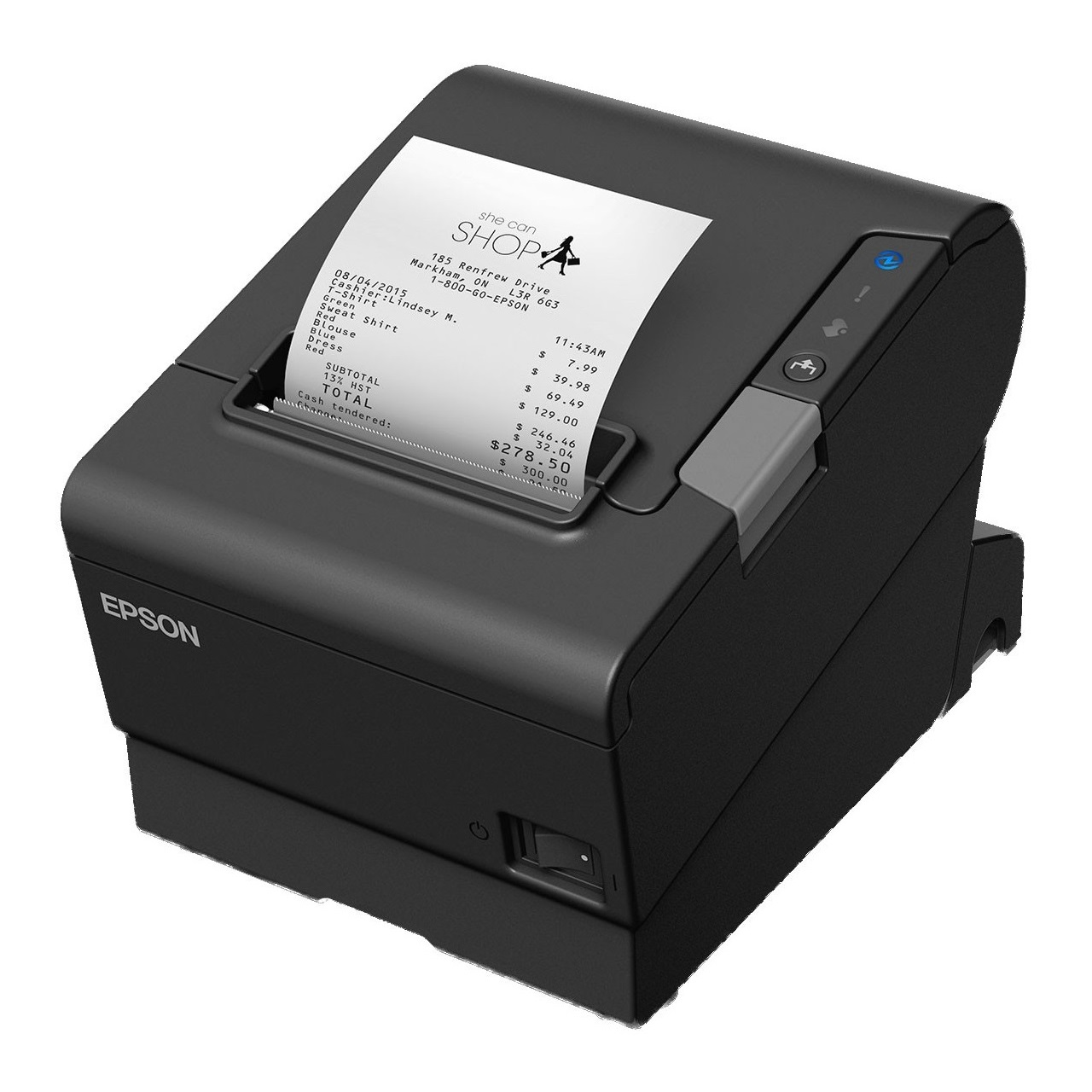 View Epson TM-T88VI USB+Parallel+Ethernet Thermal Receipt Printer with USB Cable