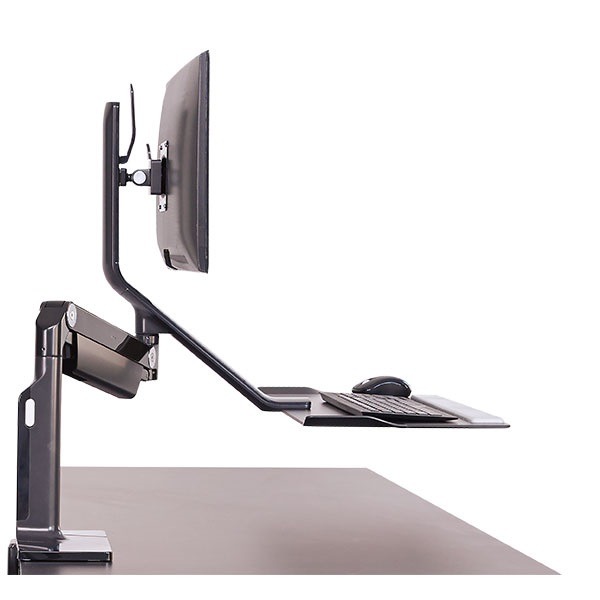 View Humanscale Quickstand Lite Single Clamp Black