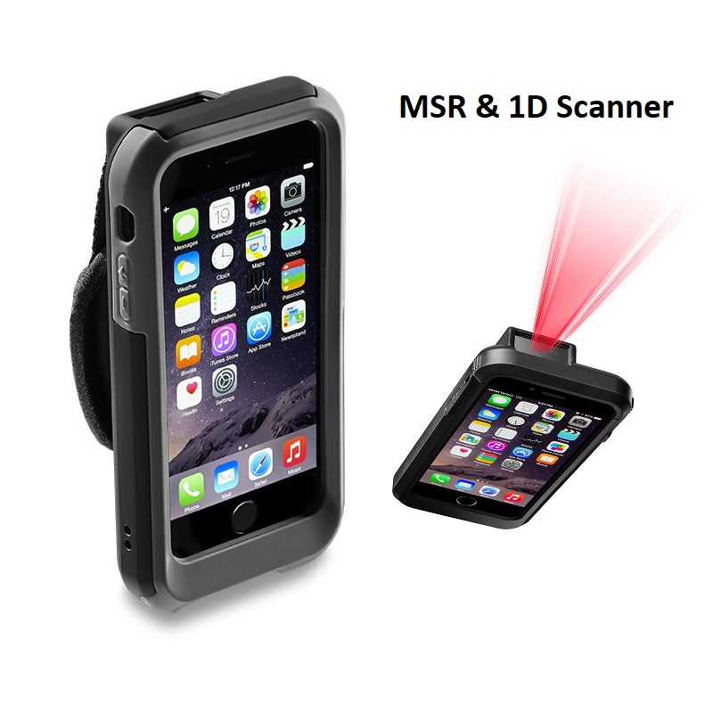View Linea Pro 6 to suit iPhone 6/6S with MSR & 1D Scanner