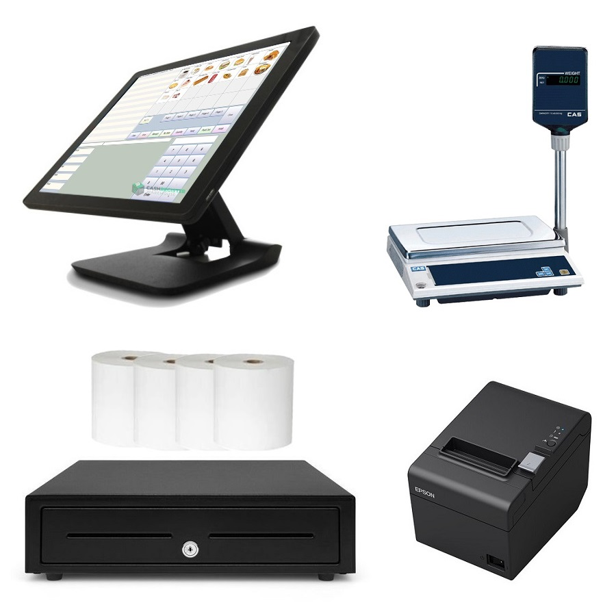 View NeoPOS POS System with CAS AP-1 Scale Bundle
