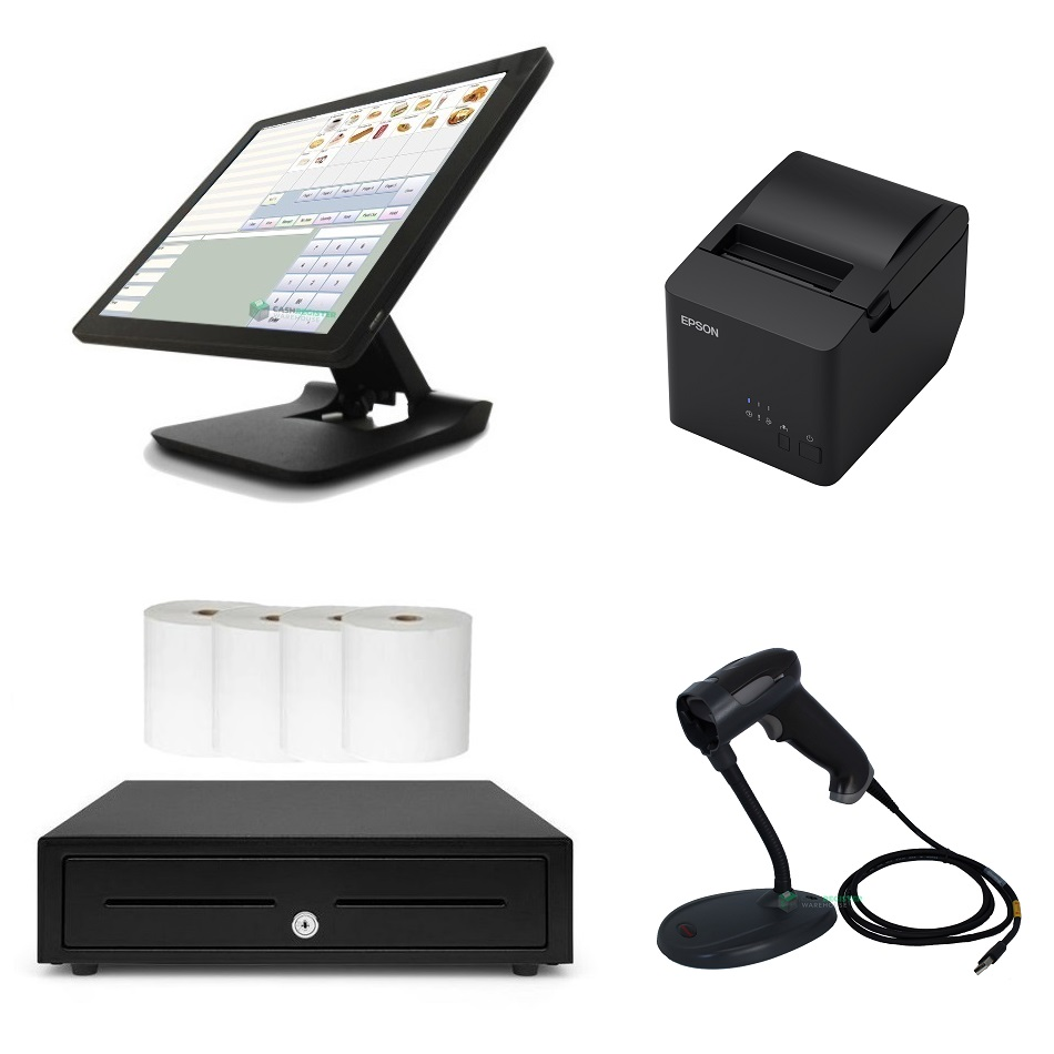 View NeoPOS Retail & Hospitality POS System Bundle with Honeywell 1470G Barcode Scanner