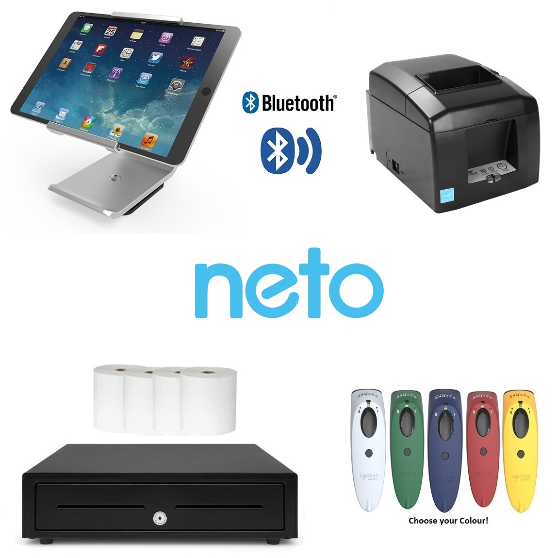 View Neto Star Bluetooth iPad Scanning POS Hardware Bundle