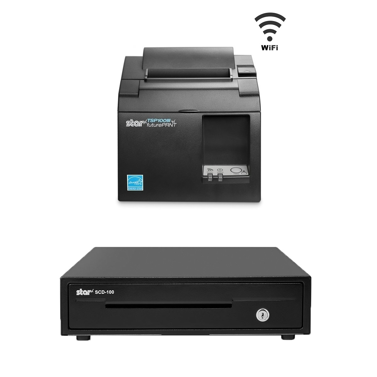 View Star Tsp143iii Wlan Receipt Printer With Star Scd100 Cash Drawer