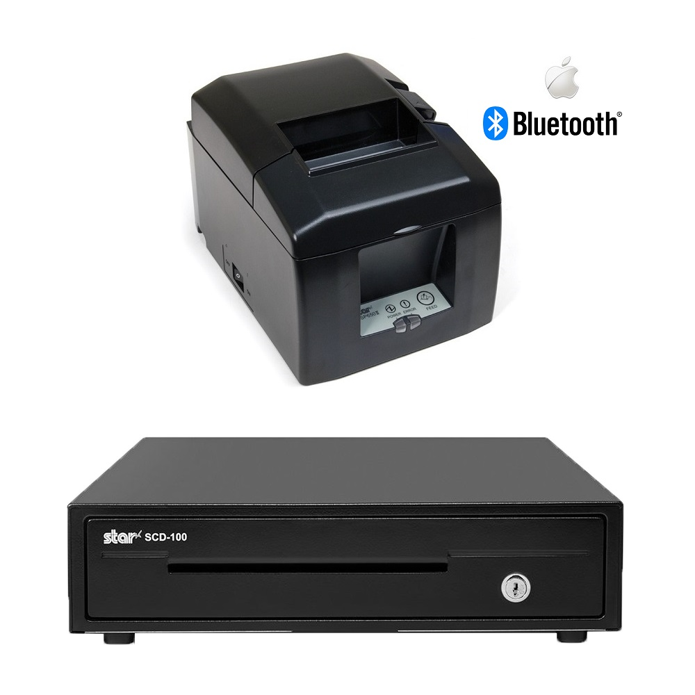 View Star TSP654II Bluetooth Printer With Star SCD100 Cash Drawer