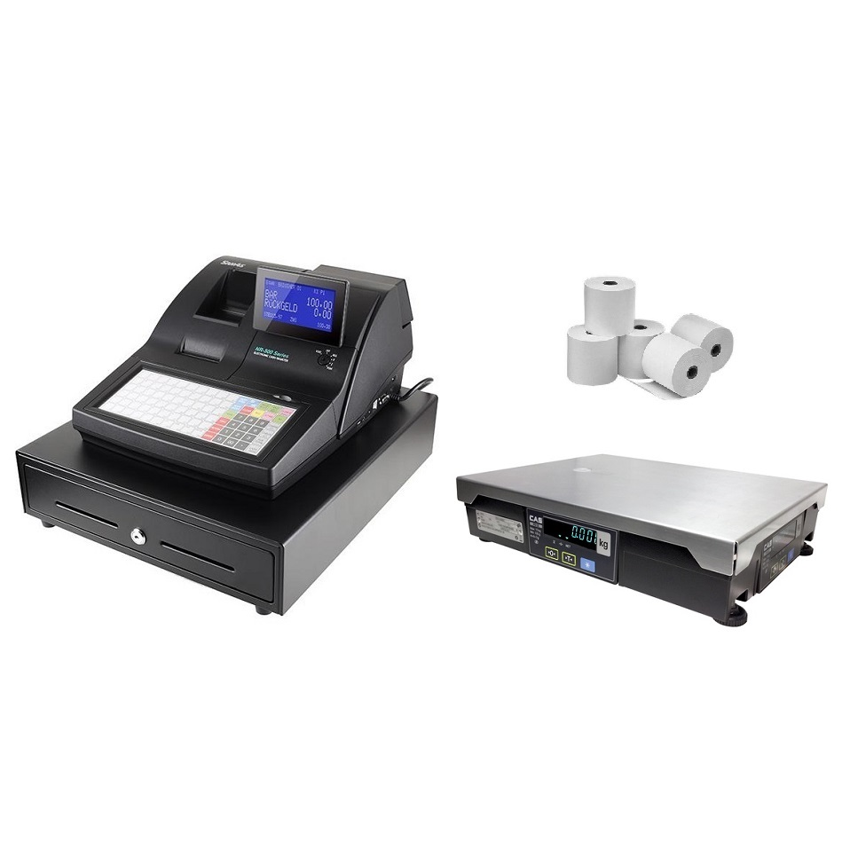 View Sam4s NR-510 Cash Register with CAS PDII Scale