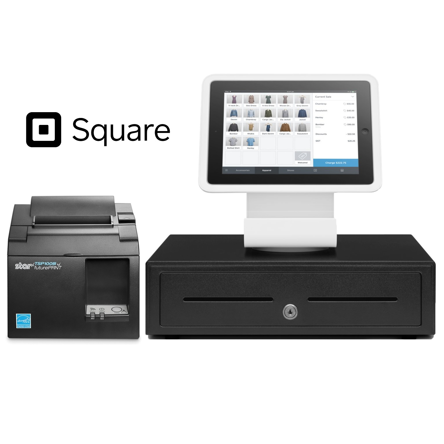 View Square Stand POS Hardware Bundle #4