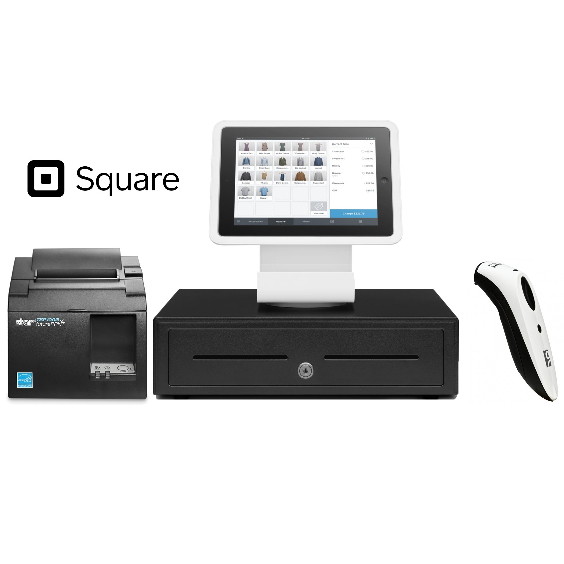 View Square Stand POS Hardware Bundle #5