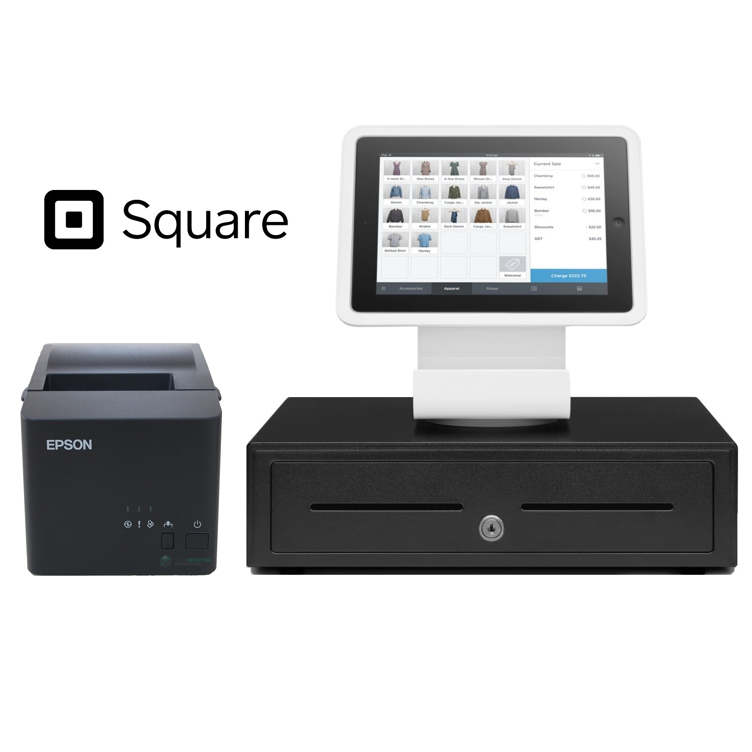 View Square Stand POS Hardware Bundle #6