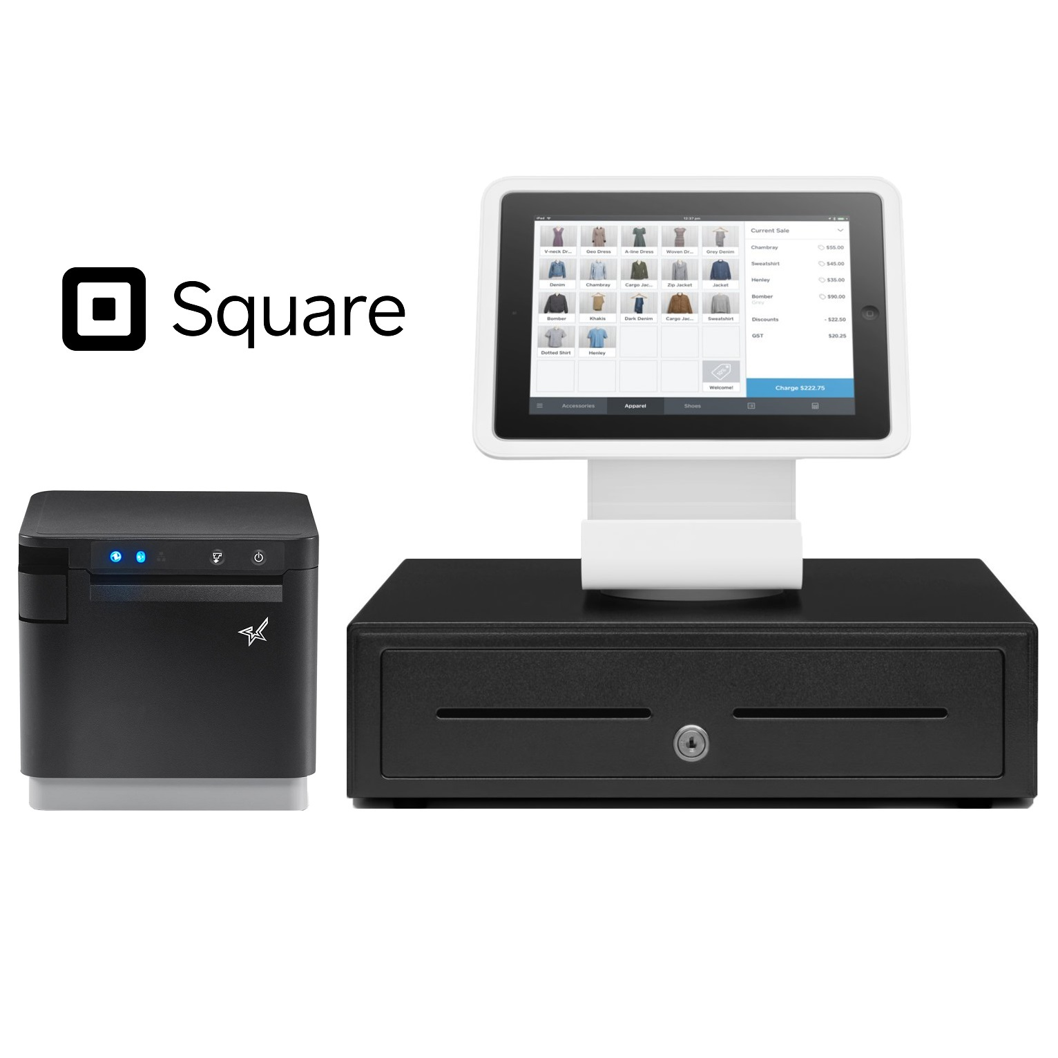 View Square Stand POS Hardware Bundle #1