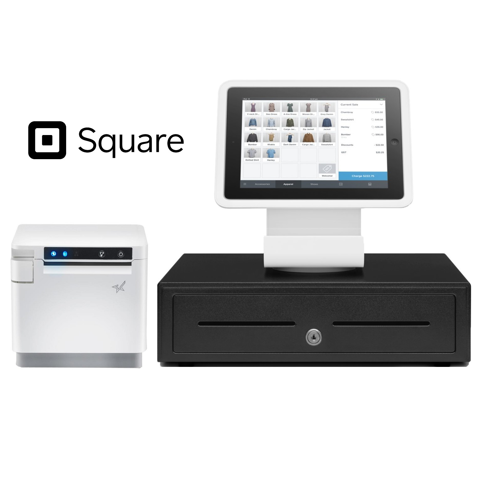 View Square Stand POS Hardware Bundle #2