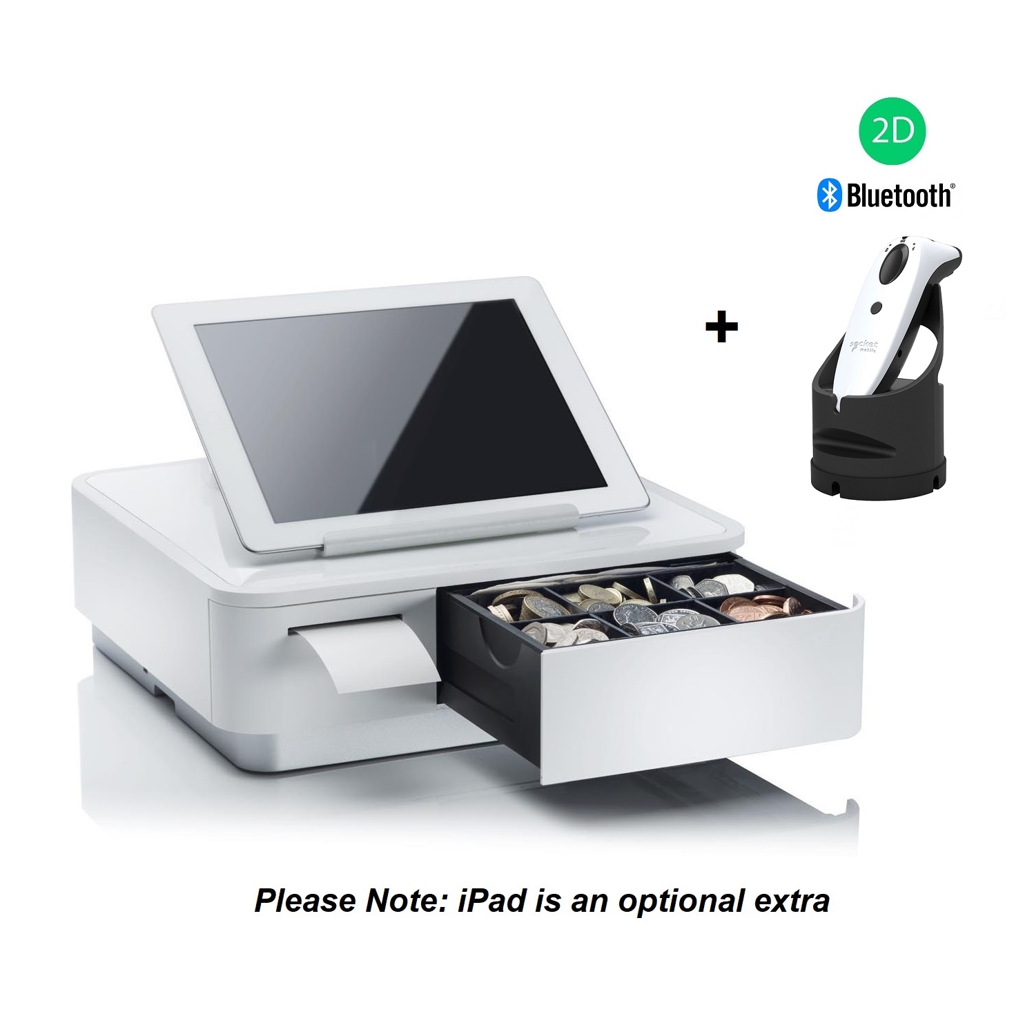 View Star Micronics mPOP with Socket S740 2D Scanner with Dock White