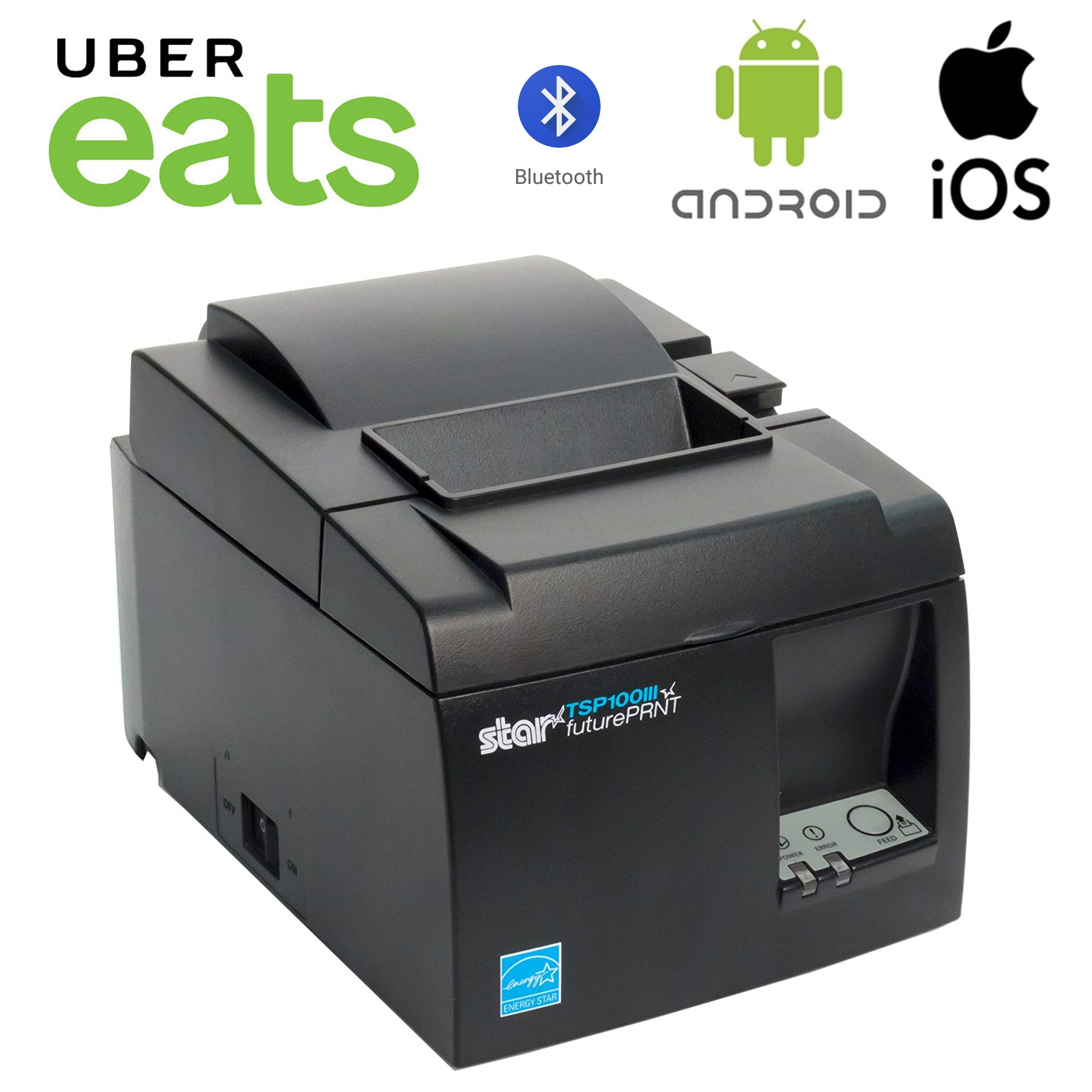 Ubereats Star Tsp143iii Bluetooth Thermal Receipt Printer