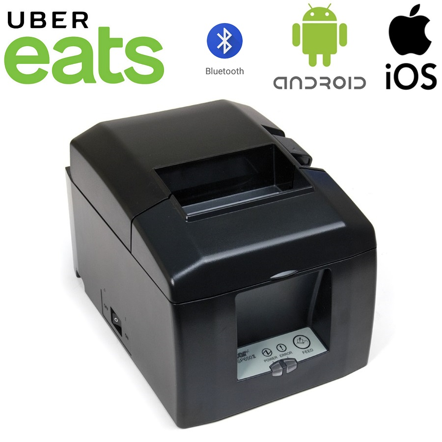 View UberEats Star TSP654II Bluetooth Thermal Receipt Printer