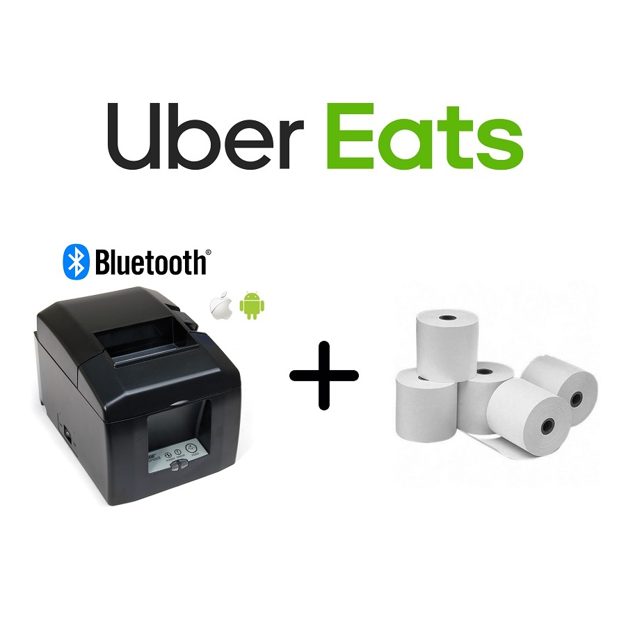 View Uber Eats Star TSP654IIBI-24 Printer + Paper Rolls Bundle