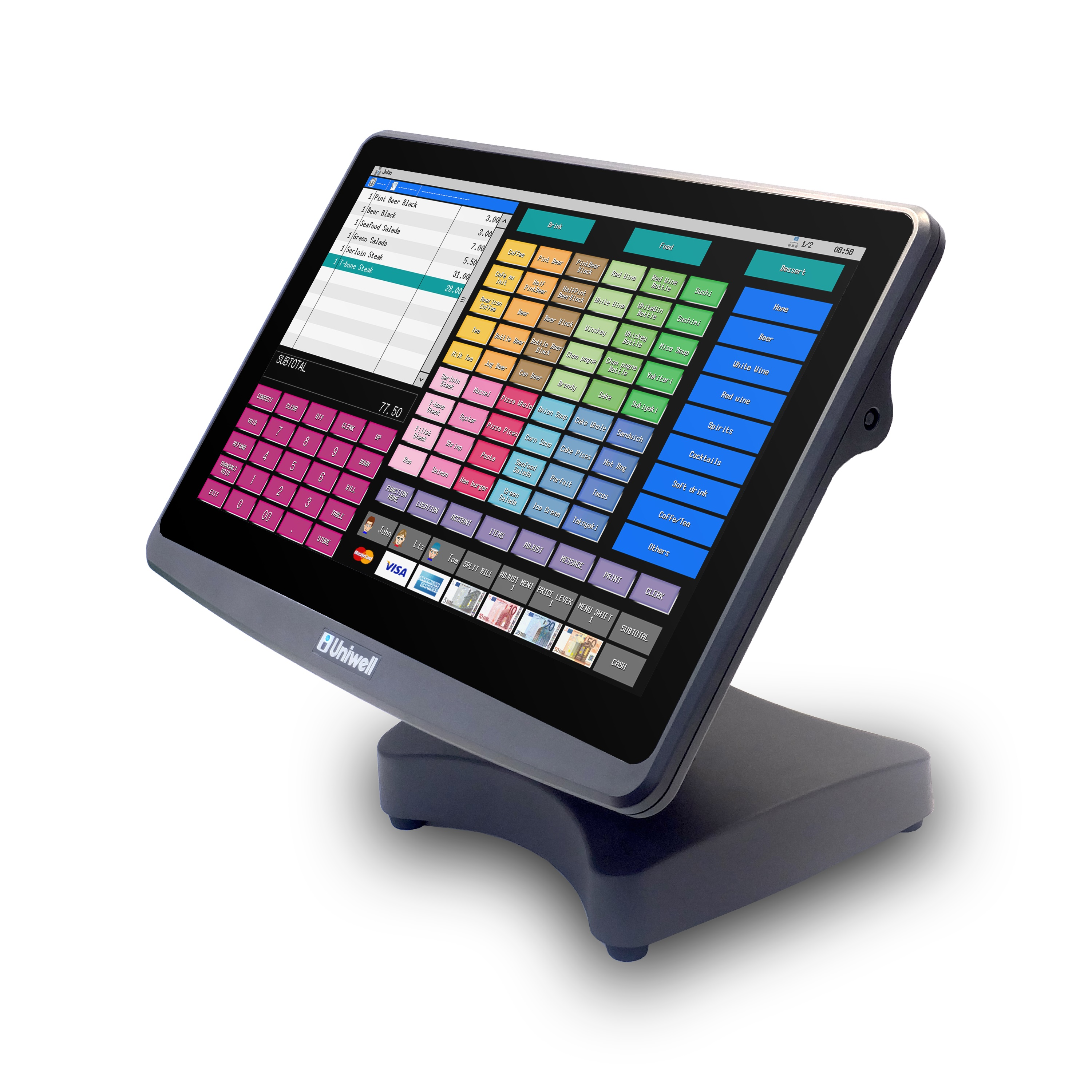 View Uniwell HX-6500 POS Terminal