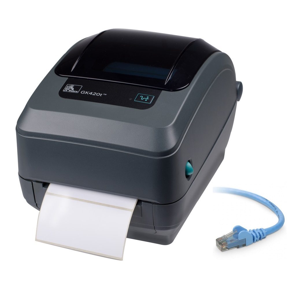View Zebra GK420T Thermal Transfer Label Printer Ethernet