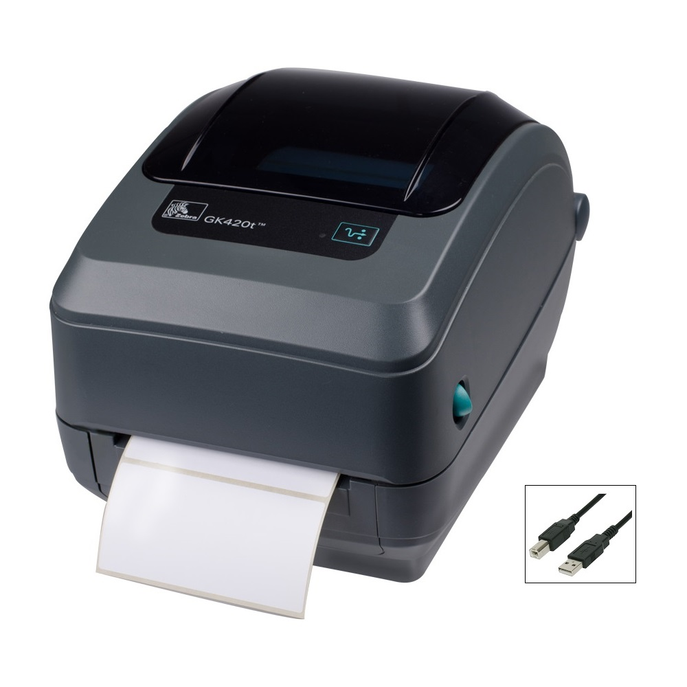 View Zebra GK420T Thermal Transfer Label Printer USB
