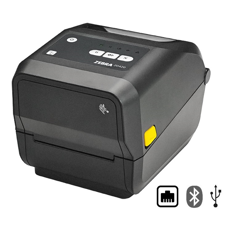 View Zebra ZD420T Thermal Transfer Label Printer Bluetooth, Ethernet & USB