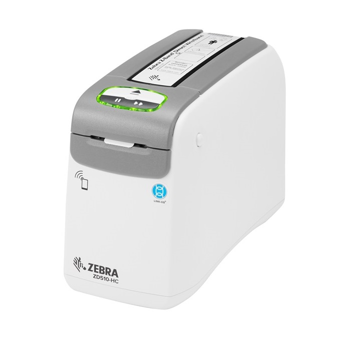 Zebra ZD510-HC Wristband Label Printer with Wifi, Bluetooth, USB & Ethernet Interface