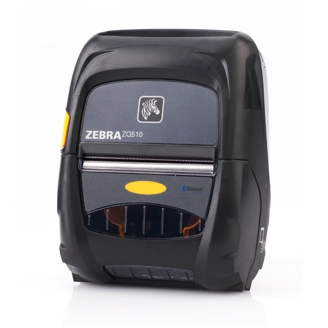 "View Zebra ZQ510 3"" Mobile Printer with Bluetooth, WLAN & Active NFC"