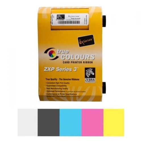 View Zebra ZXP3 Colour Ribbon YMCKO 200 Images