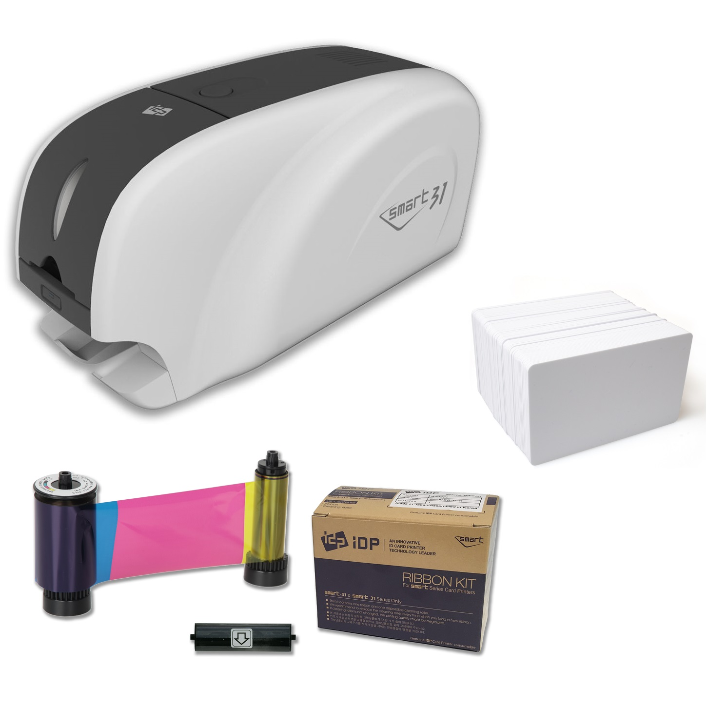 View iDP Smart 31S ID Card Printer Bundle