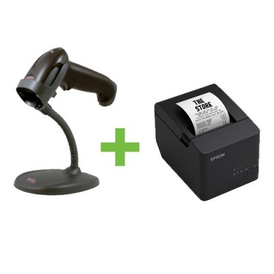 Epson TM-T20X USB Printer + Honeywell 1250G USB Barcode Scanner