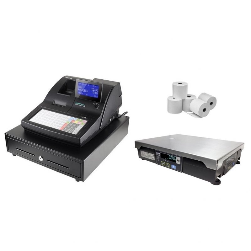 Sam4s NR-510 Cash Register with CAS PDII Scale