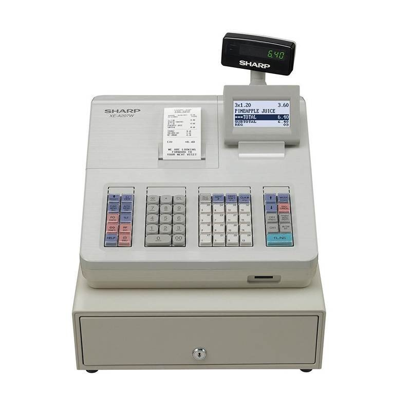 Sharp XE-A207W Cash Regisiter White